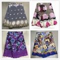 H & Q tela de encaje de cera africana de alta calidad 6 yardas/piezas de tela con bordado de cera de guipur nigeriana encaje para vestido de mujer