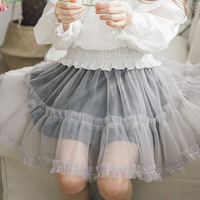 fashion teenage girls skirts 2018 with mesh spring summer autumn tulle skirt girls good quality baby children skirt clothing