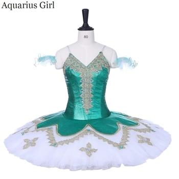 Tutú De Tamaño Adulto | Adultos Mujeres Panqueque Tutú Falda Profesional Verde Blanco Tutú Bailarina Actuación Ballet Disfraces Clásico Tamaño Infantil Tutus