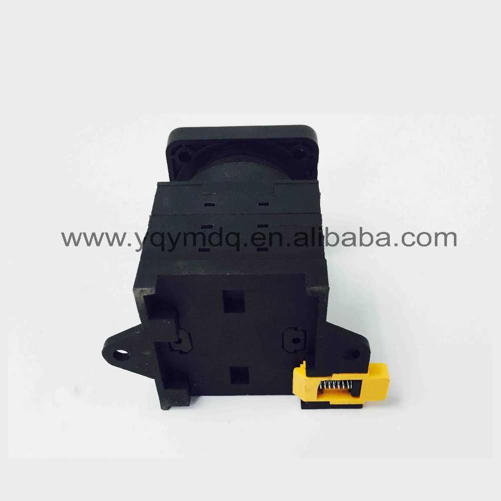 Роторный универсальный переключатель 3 положения кулачковый переключатель ручной переключатель промышленный din-рейка черный 3 полюса 32A 12 Терминал YMW42-32/3