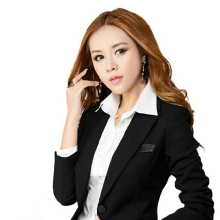 Woman Office Suit Elegant Blazer Jacket Button Work Suits For Women Female Blazers Cazadoras Mujer Ladies Work Uniforms 50N0310