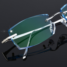 男性ファッションメガネチタンリムレス眼鏡フレームダイヤモンド装飾光学フレーム処方ガラス新しいoculos 6625