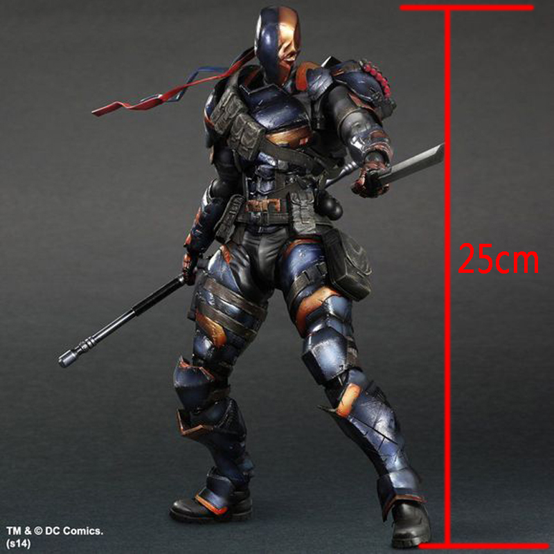 ФОТО Wolves World 2017 Square Enix Play Arts Kai Arkham Origins The Villain Deathstroke Action Figure doll toy kids gift PA0029