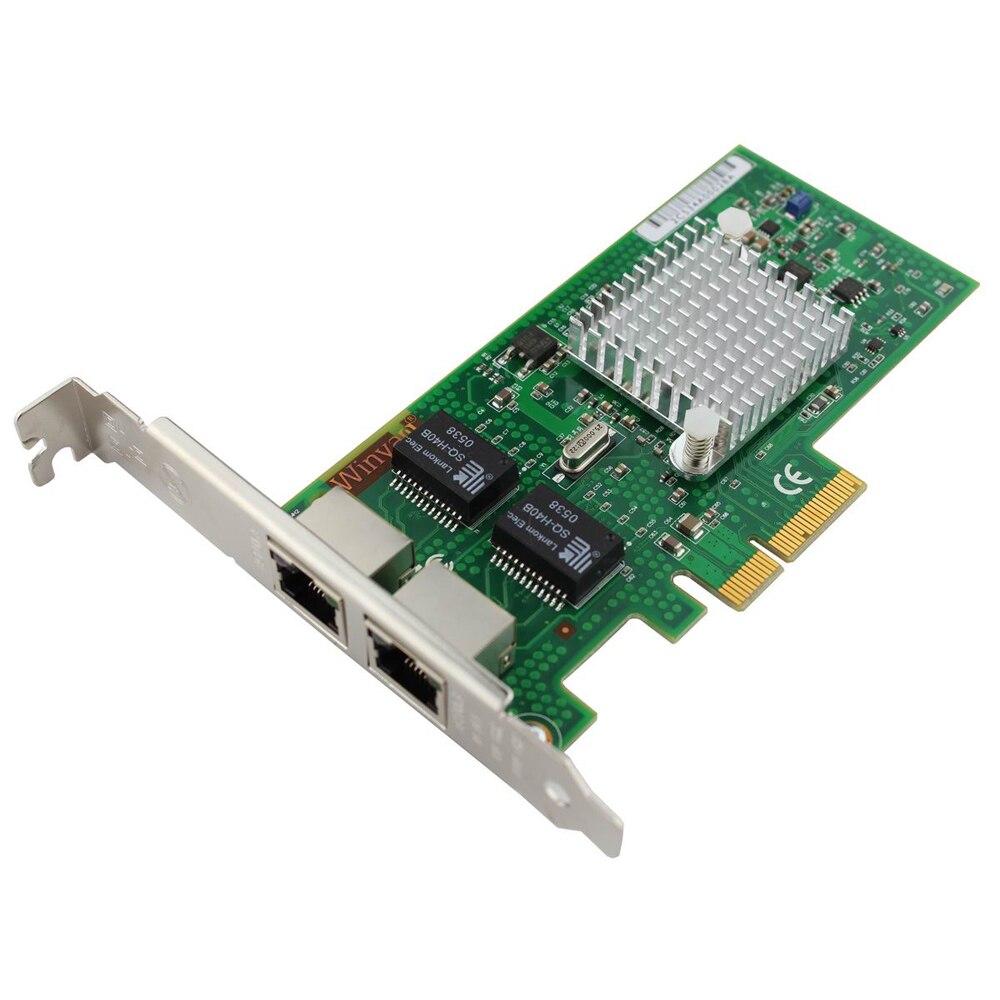 WY5709-T2 DUAL Port 1000Mbps Gigabit Ethernet PCI-E X4 NIC Card Chipset for BCM5709C адаптер dell qlogic 2562 dual port 8gb fibre channel hba pci e x8 full profile kit 406 bbek