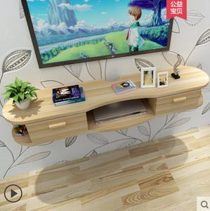 Image 2 - Wall shelf living room film and television background wall creative lattice room wall without perforation wall hanging cabinet d
