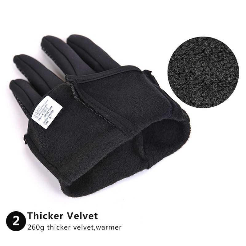 Перчатки для велоспорта, женские зимние теплые перчатки для сенсорного экрана, противоскользящие велосипедные перчатки, водонепроницаемые, для улицы, черные