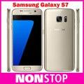 "Original Samsung Galaxy S7 No Waterproof Smartphone 5.1"" 4GB RAM 32GB ROM Quad Core GPS 12MP 4G LTE Single SIM Mobile phone"