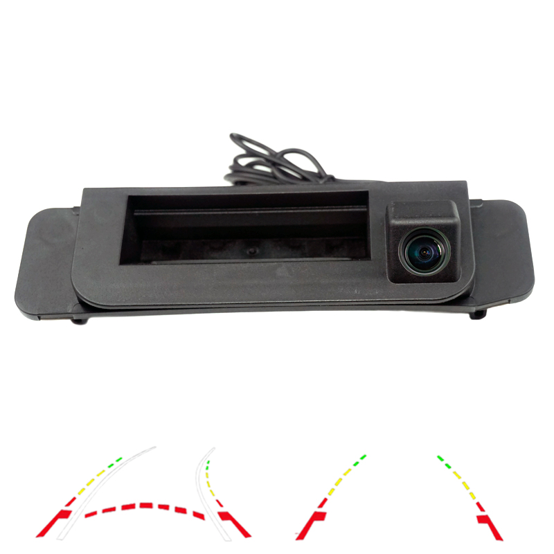 180deg CCD Car Rear View Backup Camera For Mercedes-Benz C Class 2015 W205 CLA W117 GLA Trunk Switch Camera Dynamic Trajectory