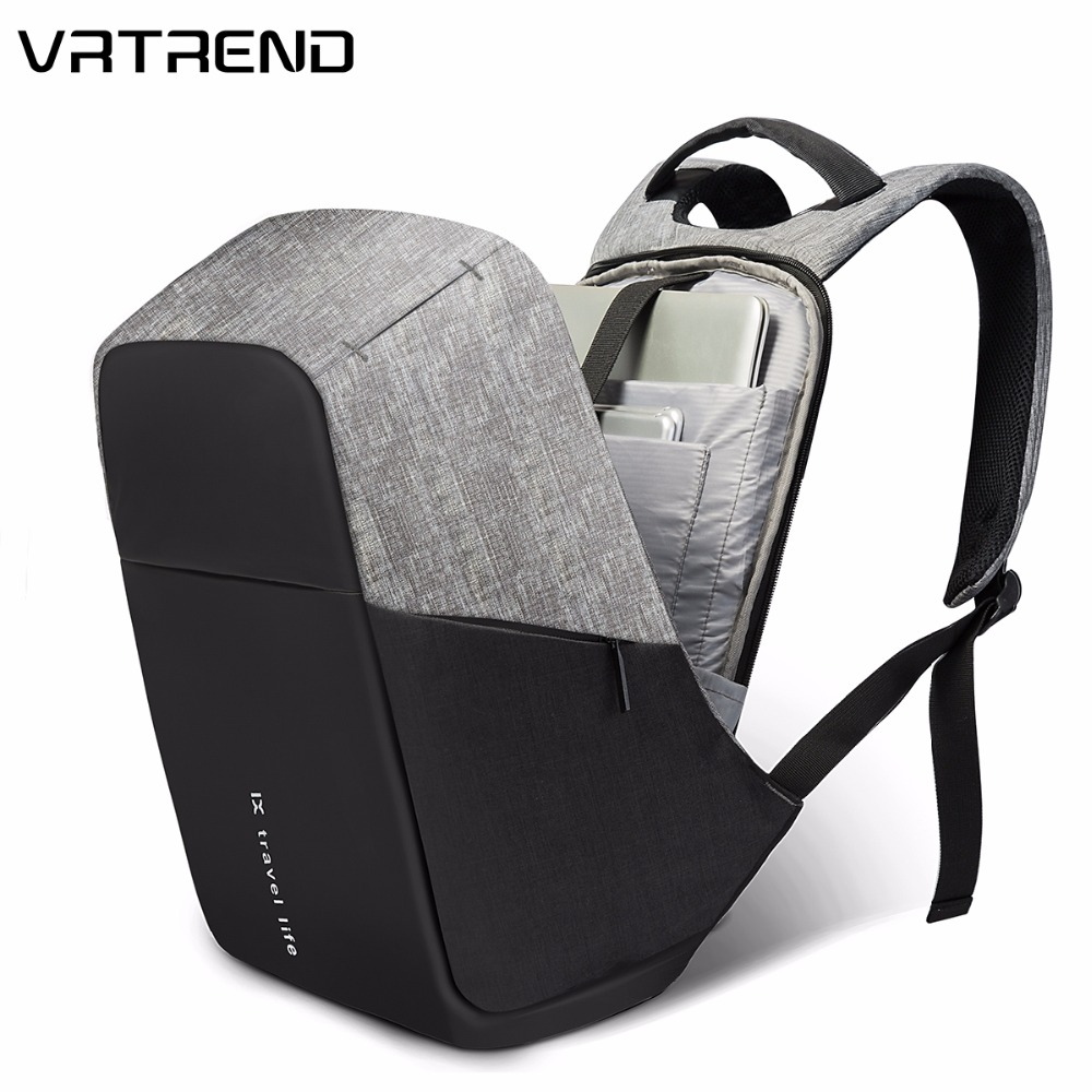 Vrtrend Men Usb Charging Waterproof Laptop Backpacks For Teenager Fashion Male Casual Anti-theft Travel Backpack Man Bag Mochila