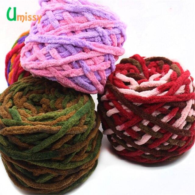 4 piezas colorido grueso hilo para tejer sombrero hermoso suéter ...