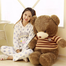 Big Size 4color 60/80/100 Plush Toys Cute Teddy Bear Pillow Glow In The Dark Gift Stuffed Children Soft Animals Freebie Birthday