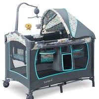 Детская кроватка для новорожденных Бесплатная доставка! ЕС Multi Функция складная кроватка для младенца Модные Портативный игры Bb ребенок ко