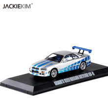 1/43 Scale Brian`s 1999 Nissan GT-R R34 Diecast Metal Car Model Toy For Kids Gift Collection Original Box Free Shipping(China)