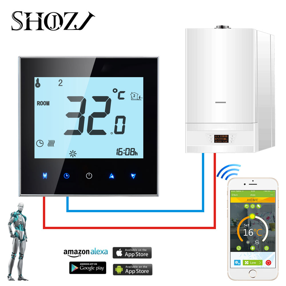 WiFi Thermostat Temperature Controller for Gas Boiler/Water/Electric floor Heating Water/support Google Home Alexa voice control 2