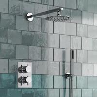 Круглый Стиль скрытый Термостатический смеситель клапан ручной ванной продукт для ванной Душевой набор 2 набора 2 способа современные душе
