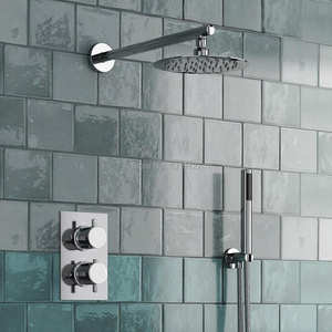 Concealed-Thermostatic-Mixer-Valve Shower-Set Bathroom-Product Modern Round-Style Handheld