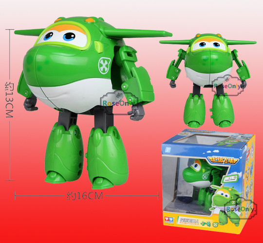 Big 15cm Super Wings Plane Robot Toys Jett Paul Jerome Dizzy Mira Airplane Action Figures Boys Christmas Gift Brinquedos /50