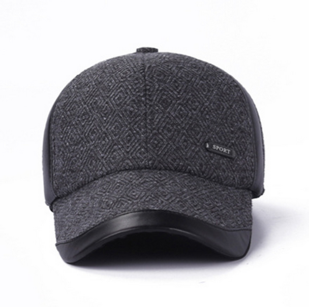 Wholesale Snapback Hats Plaid Cap Winter Earflaps Baseball cap Golf hats  Fitted Cheap Polo Hats for Men dca0d7114dc