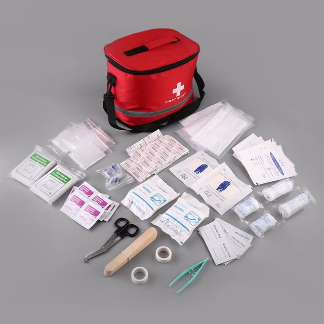 bkb14 first aid kit emergency survival medical rescue bag with shoulder strap first