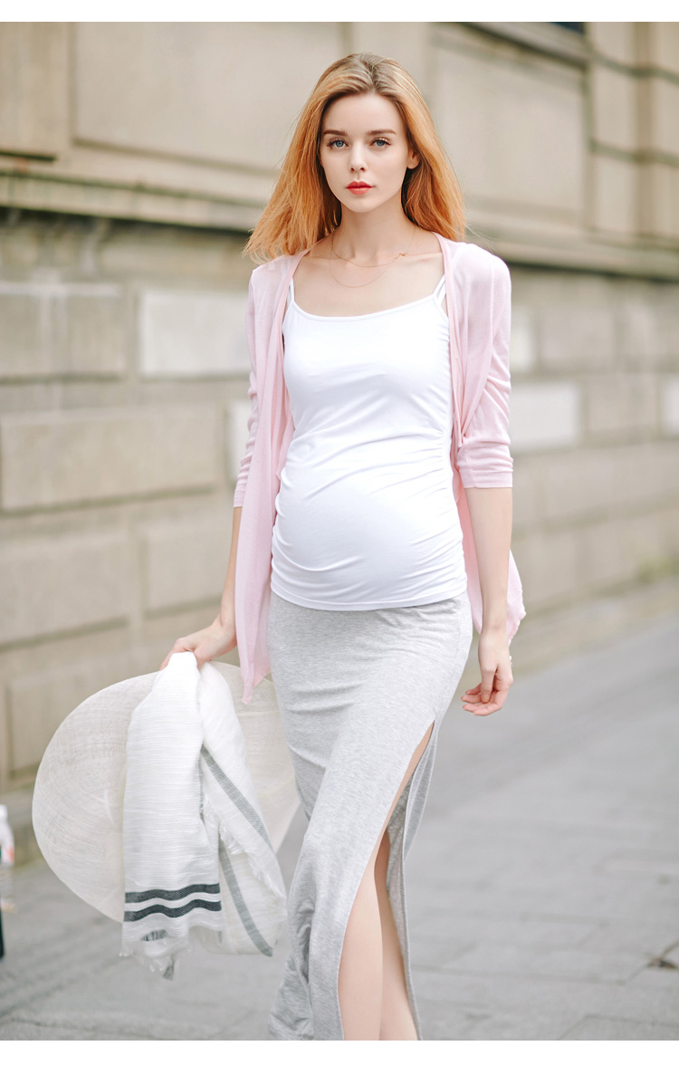 Նոր ամառային մայրության կախոցներ gravida Modal camisole Հագուստ հղի կանանց համար Հղիության հագուստ