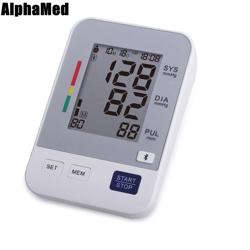 ФОТО bluetooth Arm Blood Pressure Pulse Monitors tonometer Digital Upper health Monitors presion arterial meter sphygmomanometer care
