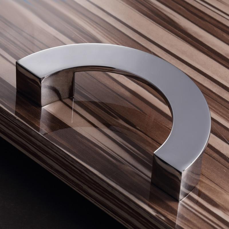 Hole space 96mm Semi circle Zinc Alloy Cabinet Handle