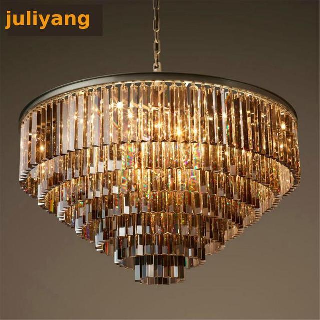 Simple Round European crystal chandelier lighting atmosphere living room dining room   villas  engineering lights