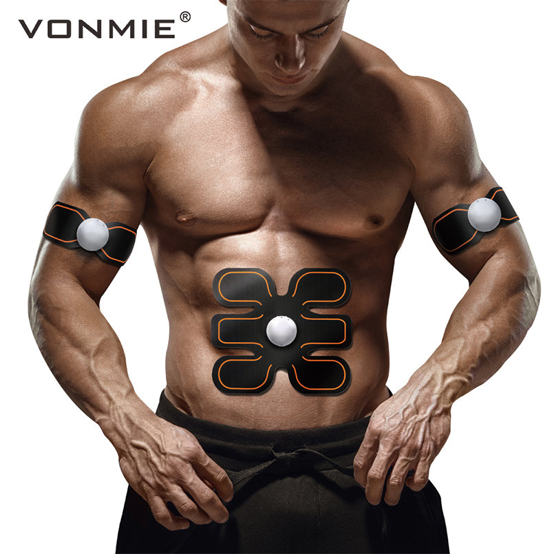 VONMIE EMS Abdomenal Arm Massager S4B04 Electroestimulador Vibrating Slimming Belt Home Sport Fitness ABS Health Tens MachineVONMIE EMS Abdomenal Arm Massager S4B04 Electroestimulador Vibrating Slimming Belt Home Sport Fitness ABS Health Tens Machine