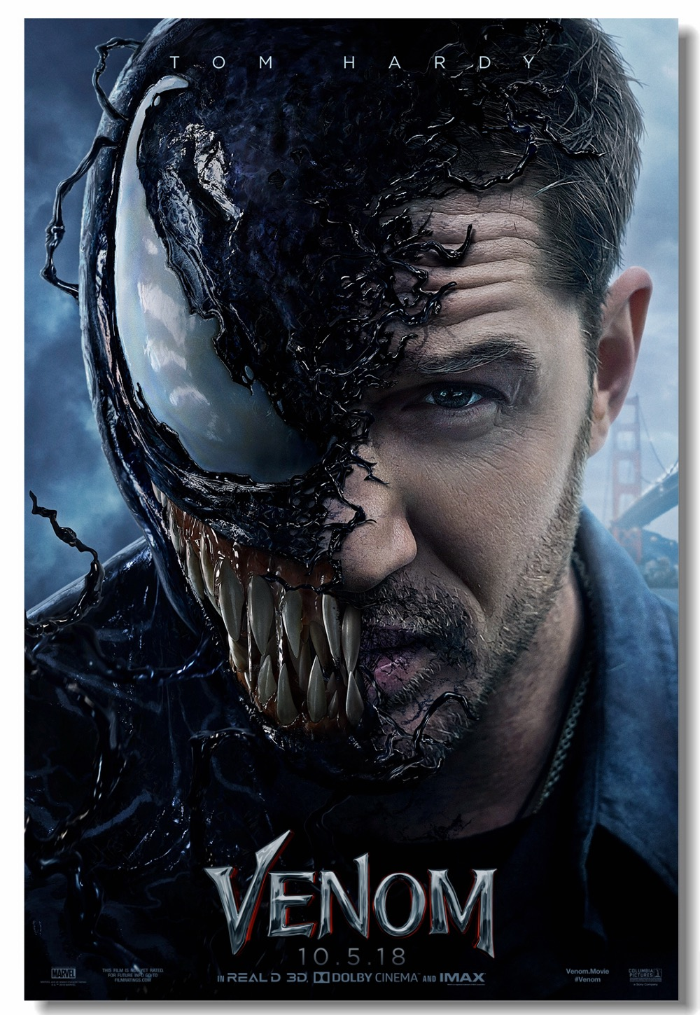 Detail Feedback Questions about Custom Canvas Wall Mural Marvel Venom Poster Venom Tom Hardy Wallpaper Office Wall Stickers Cafe Dining Room Decorations ...