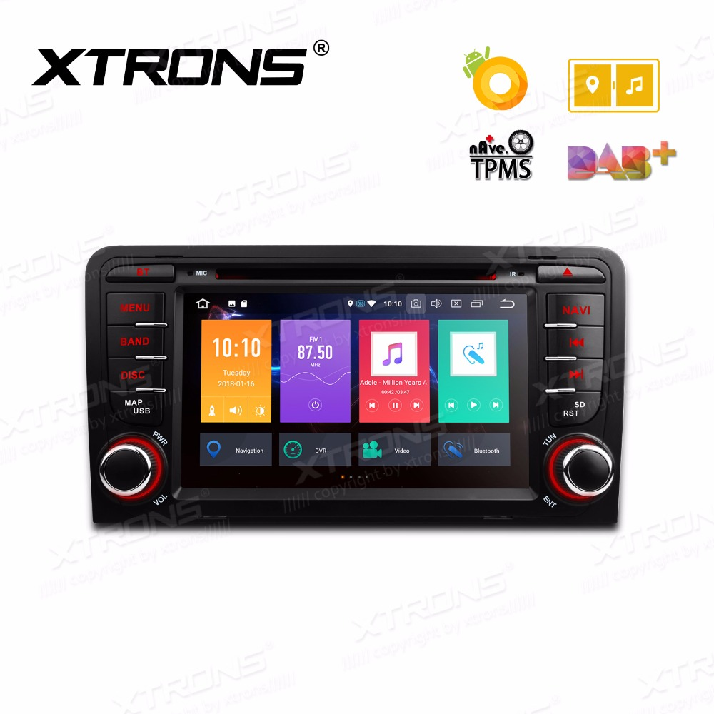 xtrons 7 39 39 octa core android 8 0 radio gps car dvd player. Black Bedroom Furniture Sets. Home Design Ideas
