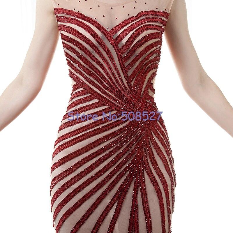 200b9fcd3a Vestidos De Gala 2016 Nuevo Por Encargo del Vino Rojo Apliques Rebordear  Sirena De Encaje De Tul Largo Vestido de Noche de Baile Vestido en Vestidos  de ...