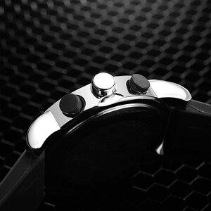 Image 5 - SINOBI דיגיטלי ספורט שעון גברים הכרונוגרף גברים של יד שעונים עמיד למים שחור רצועת השעון זכר צבאי ז נבה קוורץ שעון