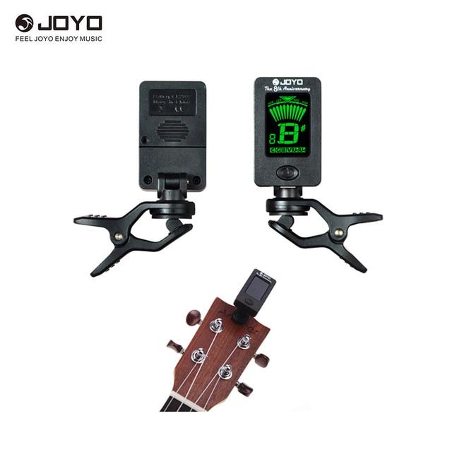 JOYO JT-01 360 градусов Поворотный чувствительный Мини цифровой ЖК дисплей клип на тюнер для гитары бас скрипки Гавайские гитары укулеле РА