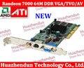 2 pcs Nova Marca de Alta Qualidade Sapphire ATI Randeon 7000 64 M DDR VGA/TVO/AV AGP ATI ATI Randeon7000 Frete grátis