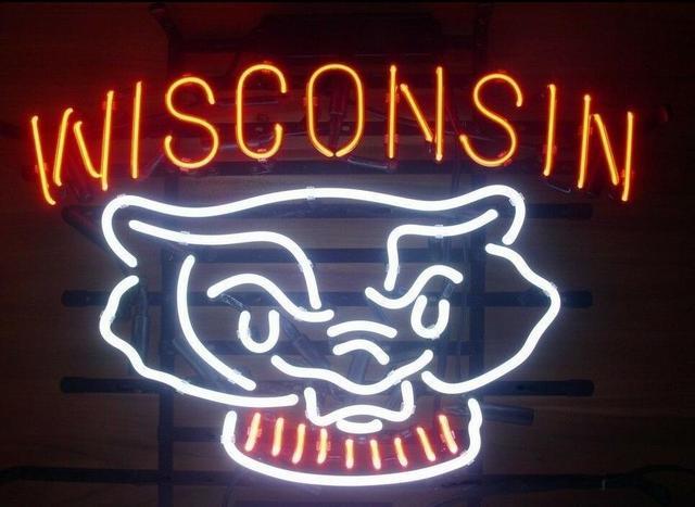 Custom WISCONSIN Neon Light Sign Beer Bar