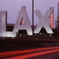 Airport at dusk  Los Angeles International Airport  Los Angeles  Los Angeles County  California  USA Poster (18 x 7)