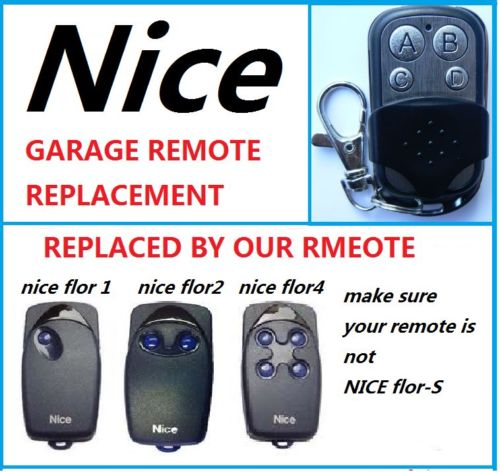 NICE FLO 1 FLO 2 FLO 3 Universal Remote Control Transmitter Garage Door Gate Fob 433.92mhz fixed code секатор flo 99208