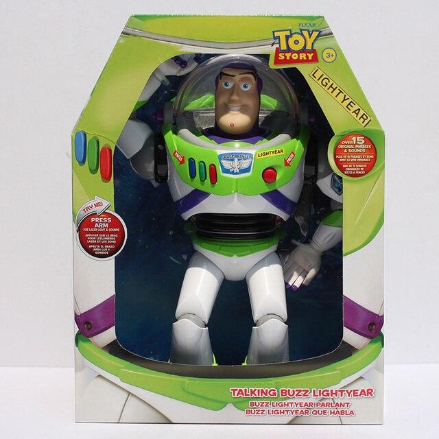 30 cm Toy Story 3 Buzz Lightyear Figuras de Brinquedo Falando Buzz Lightyear PVC Action Figure Collectible Modelo de Alta Qualidade brinquedo