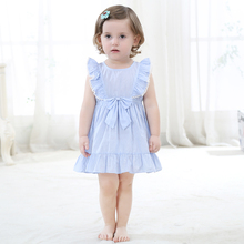 Summer Cotton Ruffles Princess Dresses For Baby Girls Wonderful Girl Dress Clothes Fashion Nice Birthday Gift For Kids