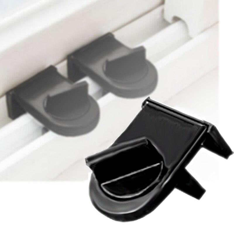 Black Iron Sliding Patio Window Bolt Locking Catch Push Lock Home Security Door\\t