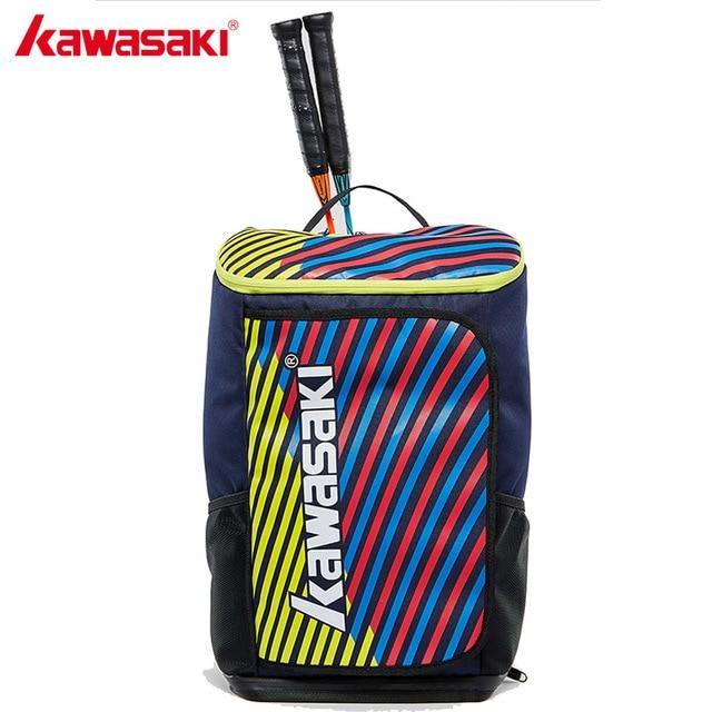 2018 Kawasaki Badminton Bag Backpack Three Racket Capacity Unisex Badminton Tennis Racket Back Pack Racquet Sports Bags KBB-8256