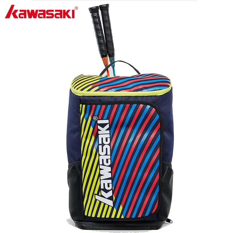 2018 Kawasaki Badminton Bag Backpack Three Racket Capacity Unisex Badminton Tennis Racket Back Pack Racquet Sports Bags KBB 8256