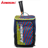 2018 Kawasaki Badminton Bag Backpack Three Racket Capacity Unisex Badminton Tennis Racket Back Pack Racquet Sports Bags KBB 8256