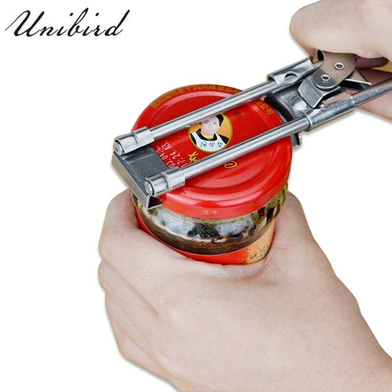 Unibird Regolabile In Acciaio Inox Apriscatole Lungo Barattolo di Latta Apri di Protezione Manuale di Rimozione di Tenuta Coperchio della Bottiglia di Accessori Da Cucina Gadget 1