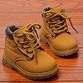 Теплая зима дети новорожденных девочек мальчиков детей англии стиль детская обувь снега сапоги плоским Мартин Сапоги плюшевые утолщаются обувь S2701