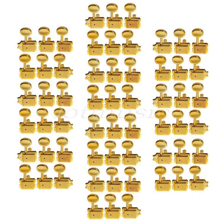 10set Gold 6R Inline Vintage Tuning Peg Head Machine For Fender ST Guitar Replacement fender super bassman® 300w head