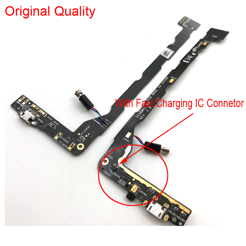 New Micro Dock Connector Board USB Charging Port Flex Cable For Asus Zenfone 2 Laser ZE600KL ZE601KL Replacement