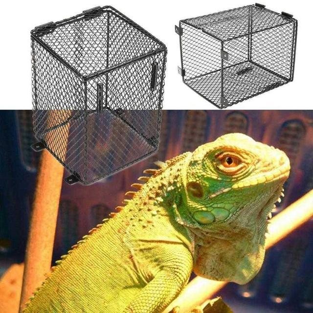 Adeeing Square Reptile Anti-scald Lamp Cover for Heating Light Reptile Protection