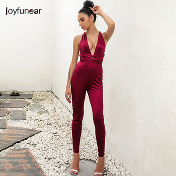 Backless Party Cross Cut Out High Quality Skinny Full Length Bandage Jumpsuit