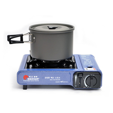 Outdoor camping picnic 1 person pot Portable fishing Boiled water Cooking noodles Non-stick pan Cooking Cookware
